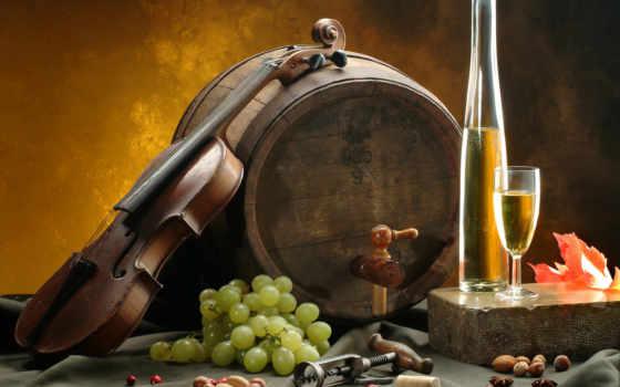 вино, виноград, бочки, glass, белое, орехи, лист, скрипка, msc, сыр, штопор,