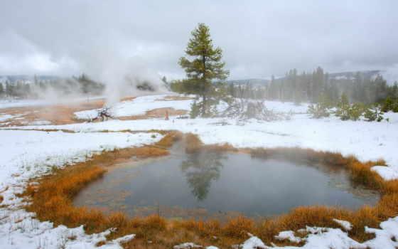 снег, осень, природа, landscape, initial, нравится, туман, winter,