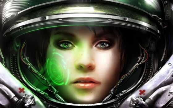 девушка, шлеме, космос, devushki, шлем,