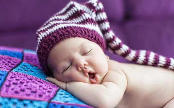 , сон, ребенок, шапка
