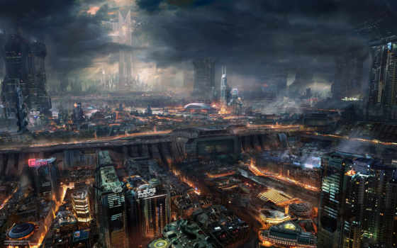 город, будущее Фон № 20097 разрешение 1920x1200