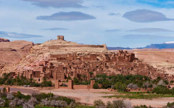 benhaddou, landscape, morocco, африка, природа, горы,