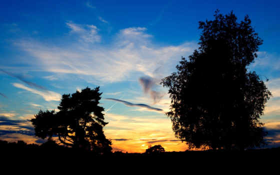 закат, summer, деревня
