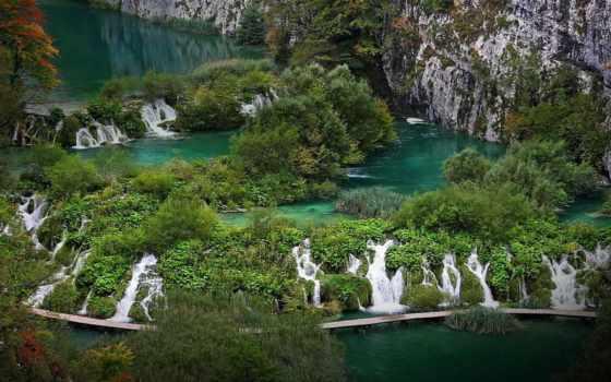 national, park, plitvice, lakes, хорватия, bing, places,