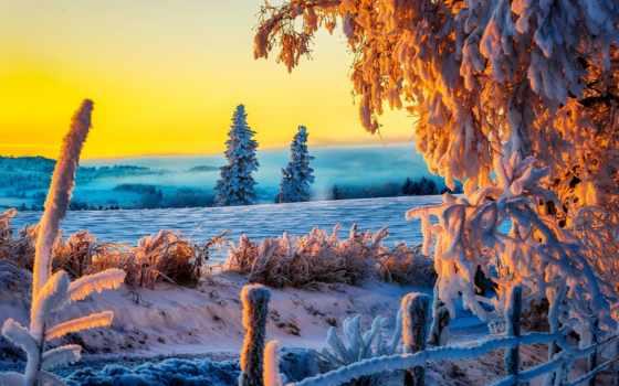 winter, снег, природа, дорога, landscape, трава, небо, зимние,