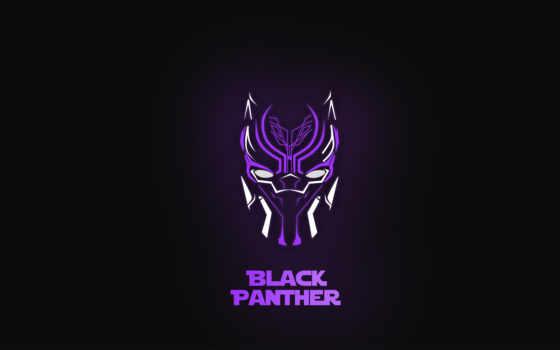 black, panther, фон, neon, free, minimal,