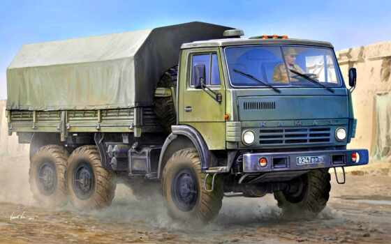 truck, камаз, военный, polnoprivodnyi, trumpeter, drawing, ukraine, car, модель, грузовой, цена