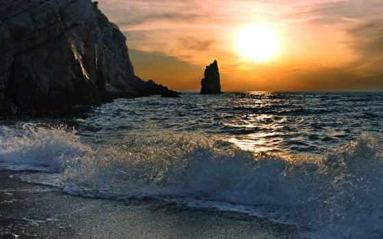 море, скалы Фон № 31673 разрешение 1920x1080