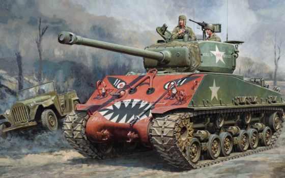 sherman, easy, восемь, korean, tamiya, танк, war, medium, kit, variant,