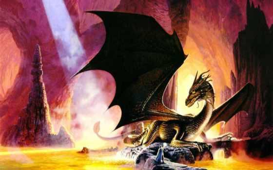 драконы, дракон, драконы, пещере, parkinson, keith, кит,