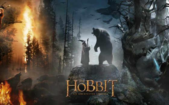 movie, гэндальф, волков, wolves, gandalf, медведей, bears,