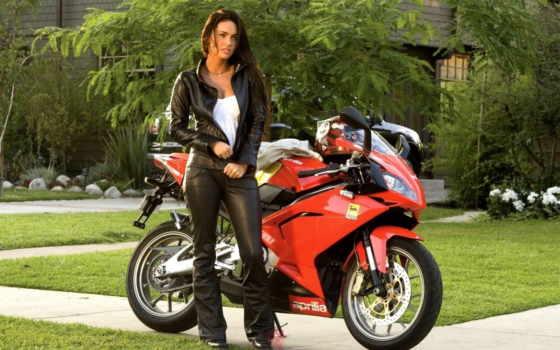 devushki, мотоциклы, мото, меган, фокс, рисунок, мотоцикл,