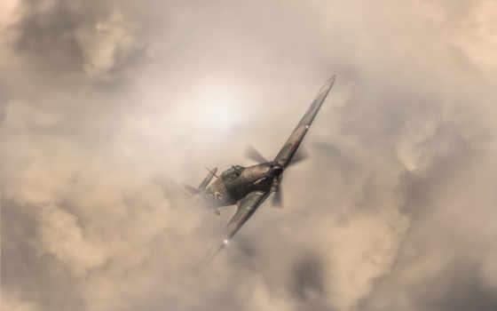 тучи, небо, самолёт, ураган, авиация, сша, war, art, world,