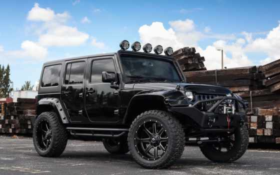 jeep, wrangler, black, tune, unlimited