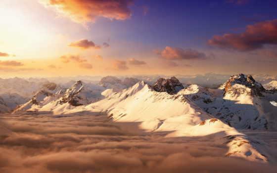 швейцария, гора, landscape, со, альпы, ротхорн, edge, изба, alpe, hang