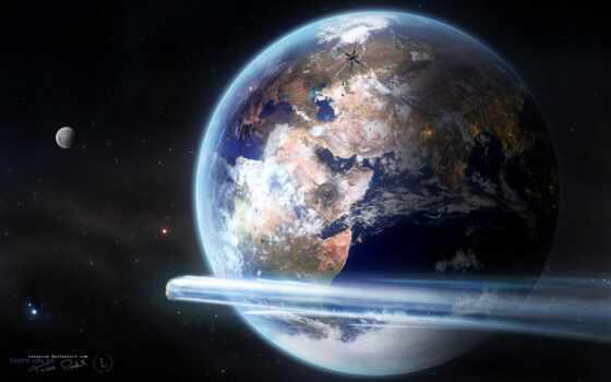 earth, land, космос, planet, art, scus