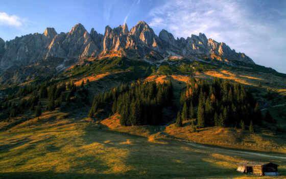 гора, закат, retina, landscape, австрия, appalachian, планшетный, крапинка, земли