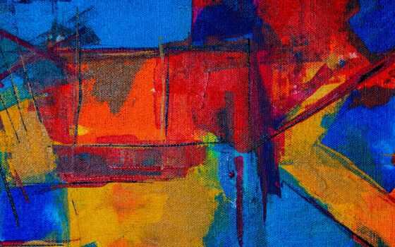 spot, band, краска, наклейка, текстура, multicolored, art, blue, гладь, марк, canvas