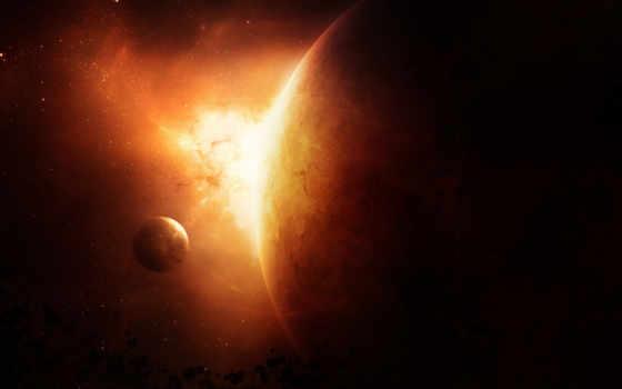планета, огонь Фон № 24470 разрешение 1920x1080