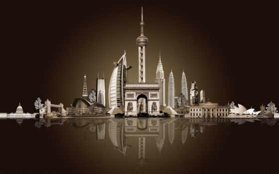 триумфальная, оперный, арка, театр, лувра, пирамида, город, под, париж, hotel,