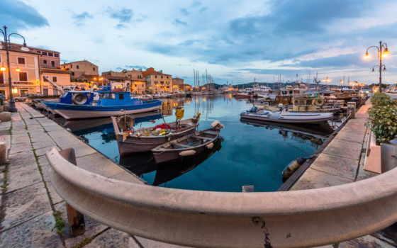 лодка, док, italian, город, транспорт, лодки,
