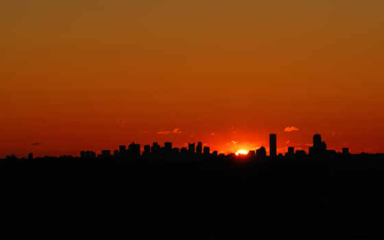 cities, sunset