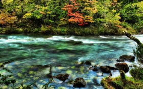 река, быстрая, скалы