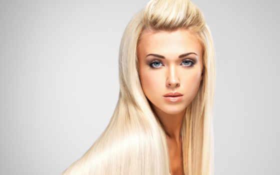 девушка, blonde, волосы, длинные, лицо, картинка, смотреть,