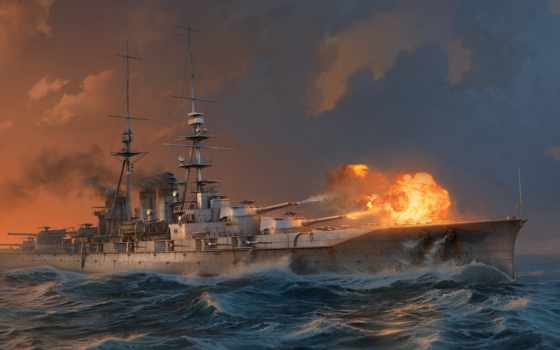 ishizuchi, battleship, world, warships, кораблей, дым, water, wows, wargaming,
