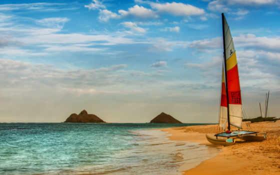 яхта, sail, корабли, море, ялта, пляж, только, другие,