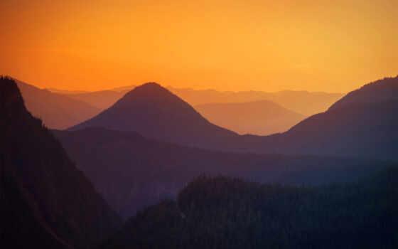 dave, morrow, github, закат, hill, взгляд, trees