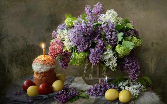 easter, сиреневый, торт, уже, тег, яйцо, праздник, festive, свеча