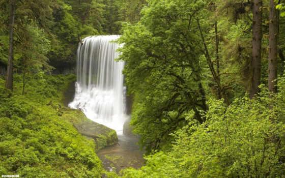 водопада, широкоформатные