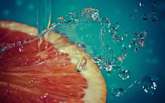 брызги, фрукт
