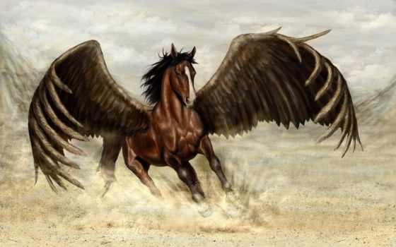 пегас, лошадь, магия