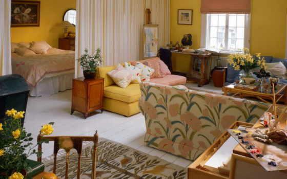 квартиры, design, маленькой, однокомнатной, интерьера,