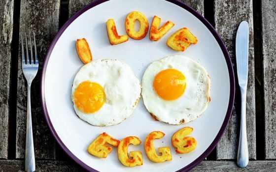 надпись, еда, яичница, яйца, нож, fork, eggs, завтрак,
