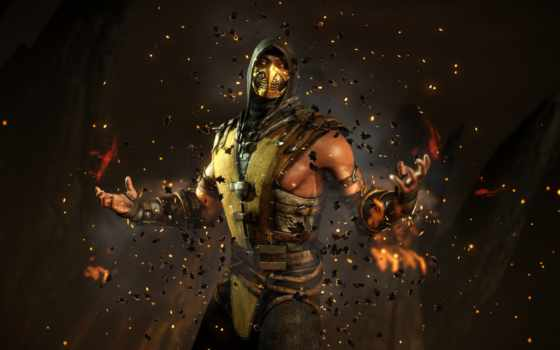 mortal, kombat, scorpion, характер, desktop, characters,