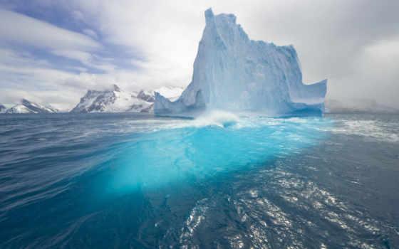 iceberg, water, синева, иней, tèmpanos, интуиции, океане,