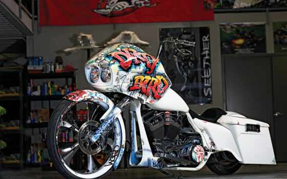 bagger, мотоцикл, bike, harley, davidson, custom, article