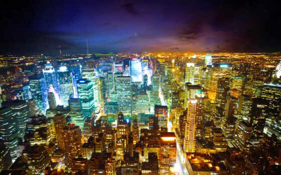 new, york, ночь, город, огонь, manhattan, urban, building, мегаполис,