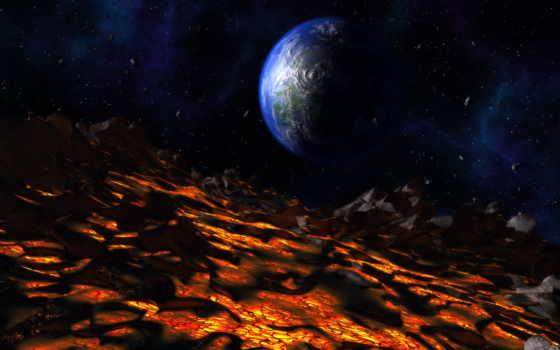 planet, volcanic, вулкан