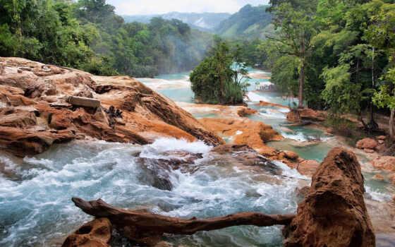 природа, водопады, mexico