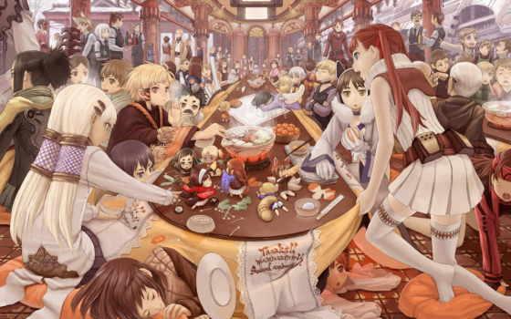 anime, праздник, парни, devushki, блюда, celebration, аватары,