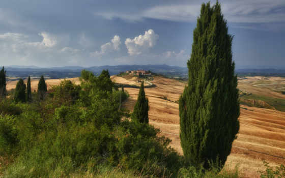 tuscany, italy, холмы