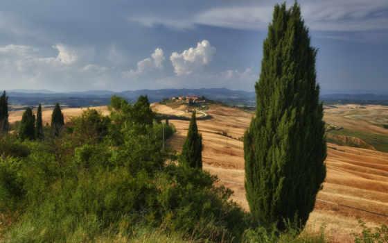 tuscany, italy, холмы Фон № 98958 разрешение 1920x1200