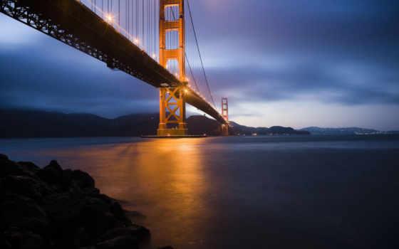мост, золотистый, gate Фон № 125375 разрешение 1920x1200