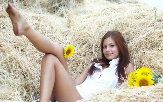 devushki, девушка, сено, солома, фотки, подсолнух, favorite, всеми, подсолнухи, рисунках,