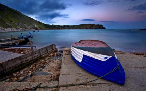 природа, лодка, красивые, мечты, нашей, море, места, заставки,