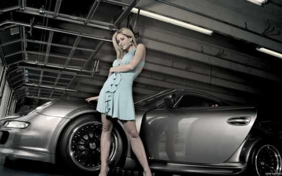 devushki, porsche, машины, авто, девушка, автомобилей,